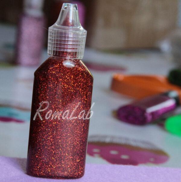 COLLA GLITTER GLITTER GLUE BRILLANTINI GLITTERATA color rosso arancio arcobaleno 291809149999