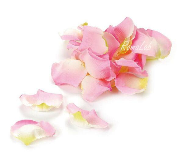 CONFEZIONE CON CIRCA 60 PETALI DI ROSA SINTETICI rosa 3 cm decorazioni scrap 292198079539