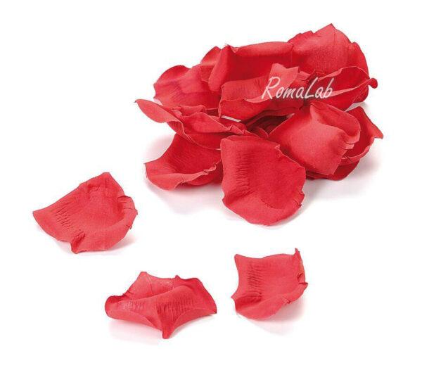 CONFEZIONE CON CIRCA 60 PETALI DI ROSA SINTETICI rossi 3 cm decorazioni scrap 291811381539