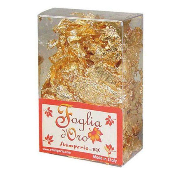 Foglia doro in fiocchi confezione da 3 g color oro Gilding foil decorazione 303746394629