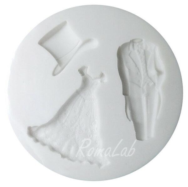 MINI STAMPO IN SILICONE FLESSIBILE vestiti sposi matrimonio amore 302609267579
