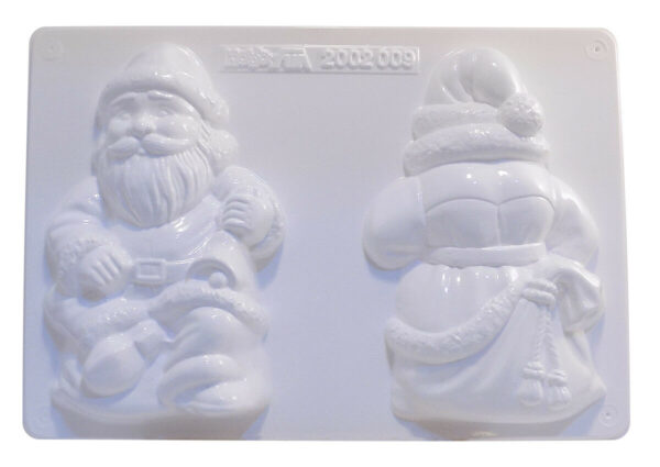 STAMPO 3D Babbo Natale con 2 FORMINE per ottenere il fronte e il retro 291801086319