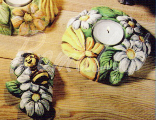 Stampo con FORME PORTACANDELA fiori ape FORMINE MOLDS per gesso ceramico 301931669669