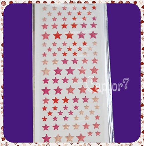 Adesivi stickers GEL stelle STELLINE SEMITRASPARENTI PER FINESTRE VETRO STARS B07BTQLFLY