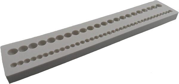 Alphabet Moulds Stampo in silicone per decorazioni di dolci motivo 2 fili di perle B004LXK84A