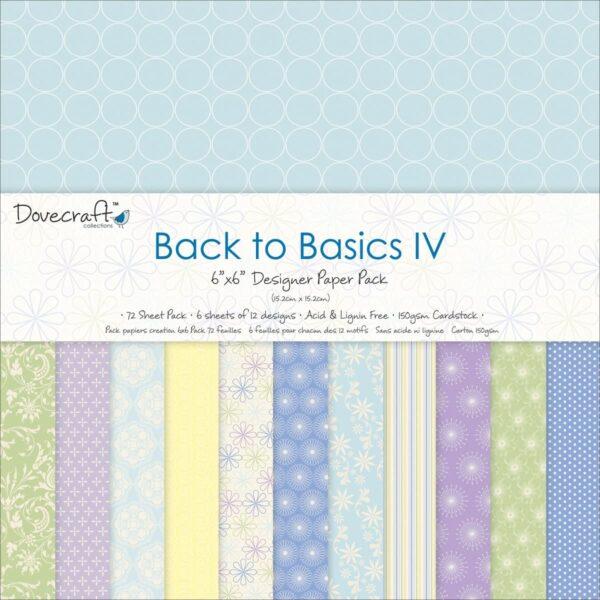 Back to Basics IV 6X6 Paper Pack Dovecraft B00EW4XXSQ