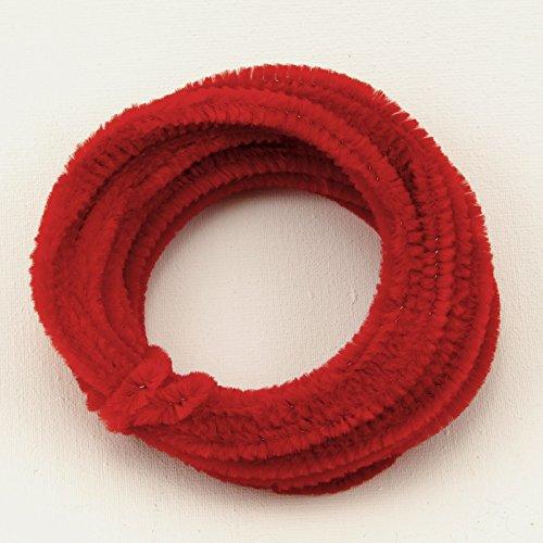 Collegamento ciniglia Rosso per i loisirs creatifs 08 cm x 5 m Roll B00U7EM71O