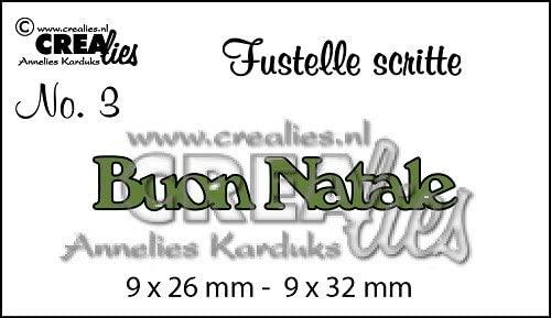 Crealies Fustella Scritta Buon Natale Compatibile con Big Shot Scrapbooking B079P5VZ4Q