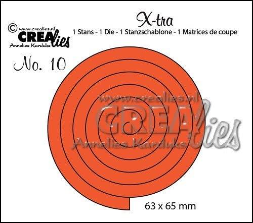 FUSTELLA Crealies X tra a forma di spirale per rosa compatibile con Big Shot fustelle B01LYMZTJV