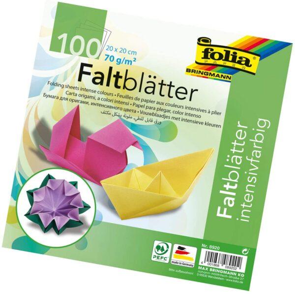 Folia 8920 Fogli per origami 20 x 20 cm 70 gm 100 pz in colori assortiti B000OZL09G