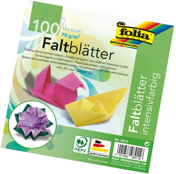 Folia Solid Origami Paper 6X6 100Pkg Assorted Colors B000OZMVQ2