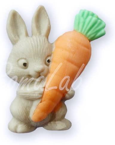 Global Sugar Art Mini Stampo in Silicone FORMINA Coniglio con Carota per Pasqua Uso Alimentare B0795W6HVF