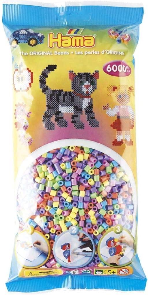 Hama 205 50 Mondo Creativo Perle e Gioielli Perle Pastello Mixed Bag 6000 B000AYHN3I