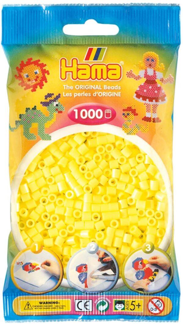 Hama Beads Set di 1000 Perline Giallo Pastello B000AYHN88