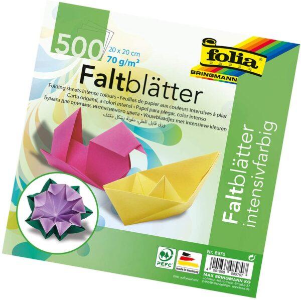 Idena Folia Fogli per Origami 70 gmq 500 Fogli Assortiti in 10 Colori B002RBNB6U