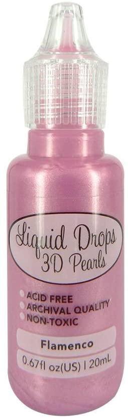 Liquid Drops 3D Pearls della Ultimate Crafts colore Flamenco 20 ml B0745KBWG2