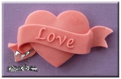 MINI STAMPO IN SILICONE FLESSIBILE cuore scritta LOVE amore matrimonio B0795DDP1L