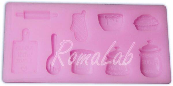 MINI STAMPO IN SILICONE cucina mattarello FORMINE STAMPINO MOLD sweet tagliere B0743NDL7D