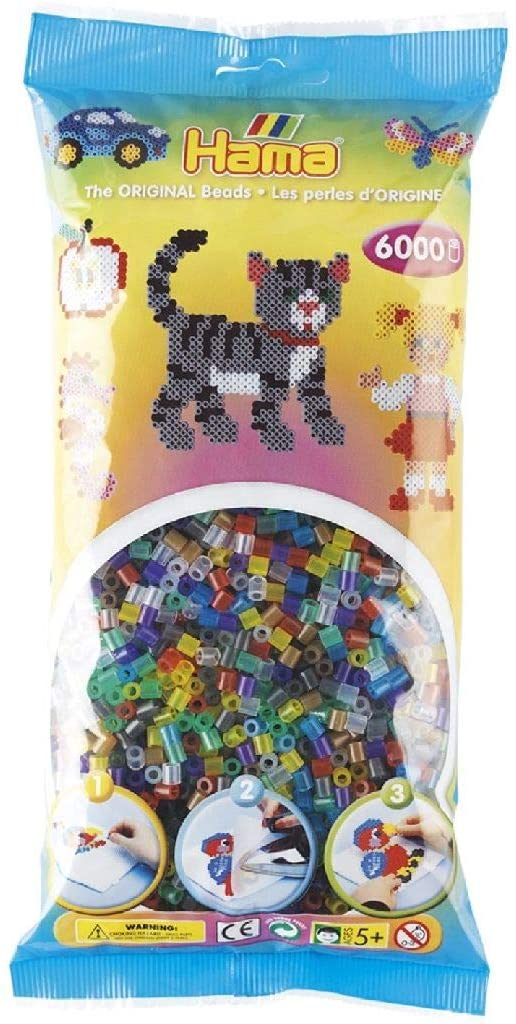 Malta Haaning plastica a s 0644058 Beads At Ferro Trasparente Hama 6000 Pezzi B002P9BBJI