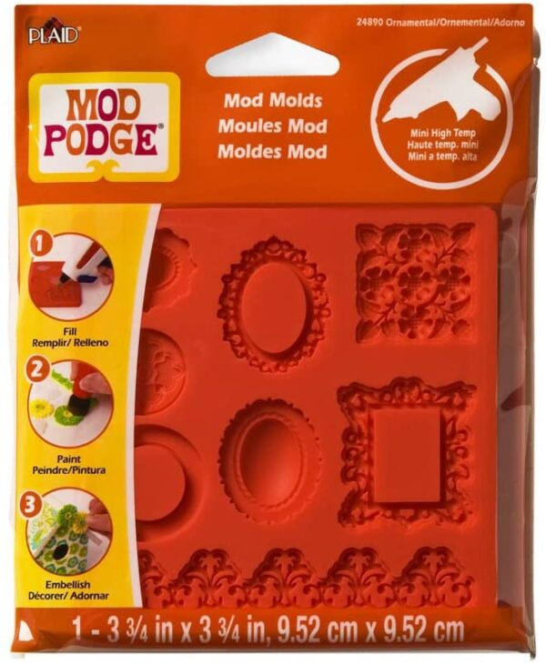 Mod Podge Ornamente Design Form Synthetisches Material Orange 95 x 95 x 09 cm B00DV9008O