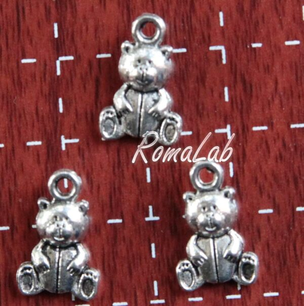 RomaLab 10 Charms Orso Orsetto Grande Charm TENERO Ciondolo 15 mm Baby Ciondolo Pendente B07FBSB4M5