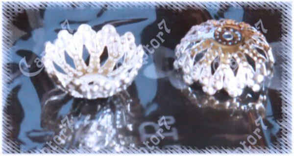 RomaLab 28 COPPETTE COPPETTA Argentata Perline COPRIPERLE 14x4 MM Copri Perle Perline B07BZDMB66
