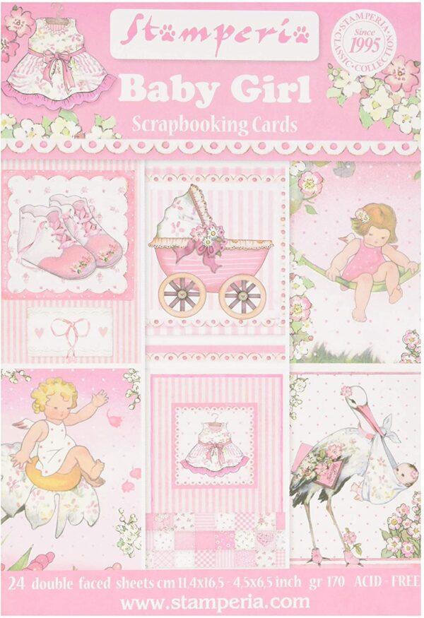 STAMPERIA Blocco di 24 Fogli Baby Girl Carta Multicolore 114 x 165 45 x 65 B07BLRMNPW