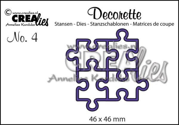 Set 4 FUSTELLE pezzi di puzzle Crealies Decorette die compatibili con Big Shot B014RW34Z4