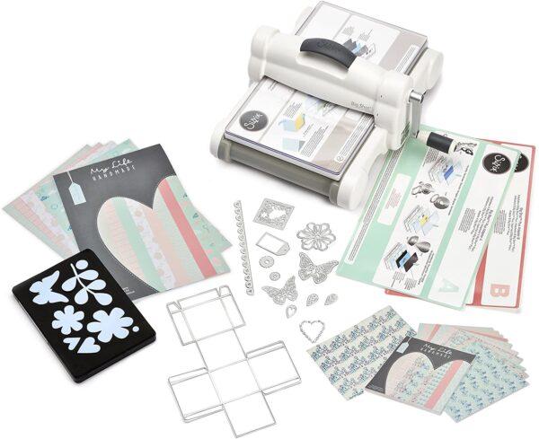 Sizzix Big Shot Plus Kit di Partenza My Life Handmade 2 Acciaio Inossidabile BiancoGrigio 40cm x 298cm x 19cm B01JJ0DZ1W