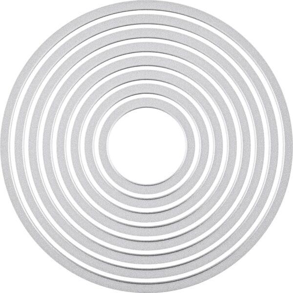 Sizzix Framelits Fustelle Set di 8 Pezzi Cerchi B0068RRJMQ