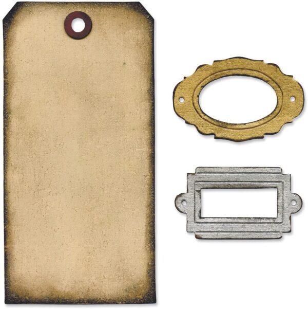 Sizzix Movers Shapers Base Die By Tim Holtz 55X6 Tag Bookplates B0049G9LEW