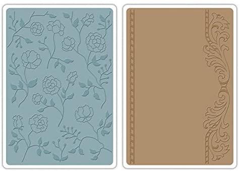 Sizzix Set di 2 fustelle per lavorazioni in rilievo cornici con fiori design di Jen Long Philipsen B00DV90CTG