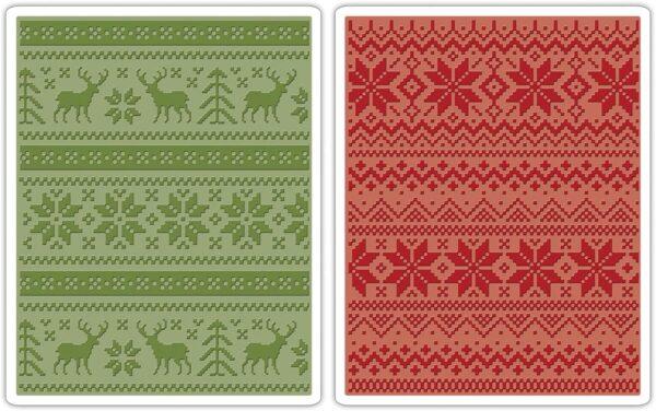 Sizzix Texture Fades Embossing Folders 2PK Set di Decorazioni per Le Feste Acciaio Inossidabile Multicolore 22x130 B00LNDYZV8