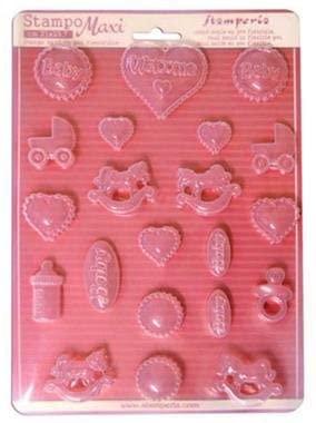 Stampo maxi in PVC flessibile cm21x297 Soggetti Baby K3PTA407 B01C9KTPVI