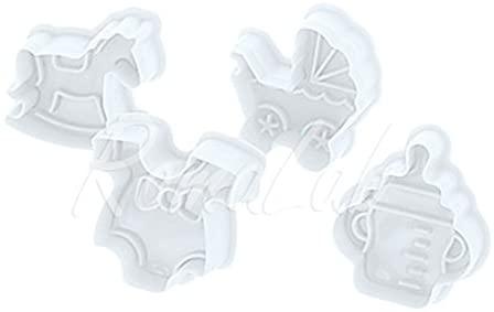 Tagliapasta ad espulsione Set 4 STAMPI a Tema Baby Decorazione Dolci Torte Fimo B079D8Q8PQ