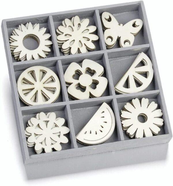 cArt Us Bacheca in legno con decorazioni ornamentali in cristallo 105 x 105 cm colore naturale B00DH4MGNA